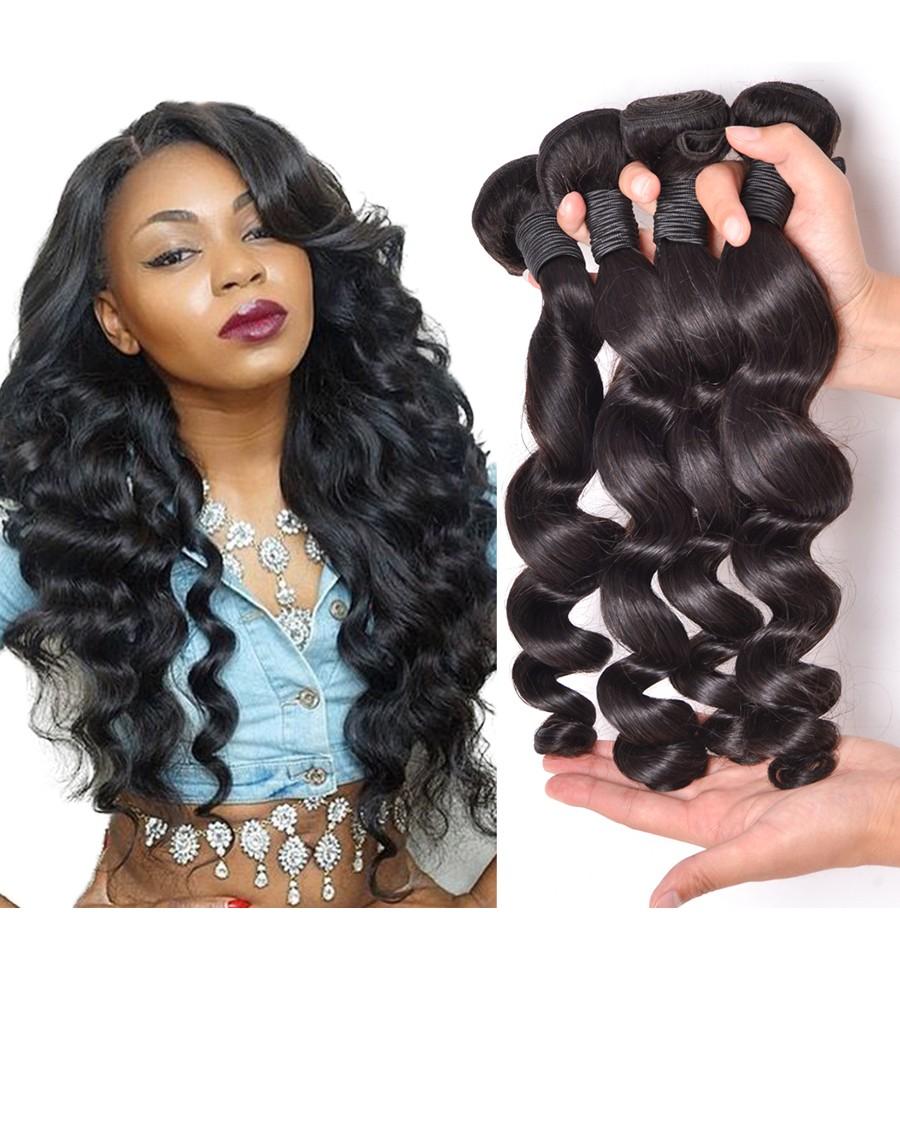 8a Premium Hair Weave Indian Hair Loose Wave 100 Human Hair Weave