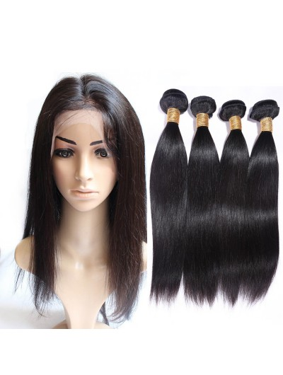 8A Premium 360 Frontal with 2 Bundles Malaysian Hair Straight