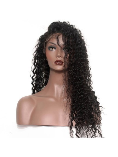 Full Lace Human Hair Wigs Brazilian Loose Curly Remy Hair