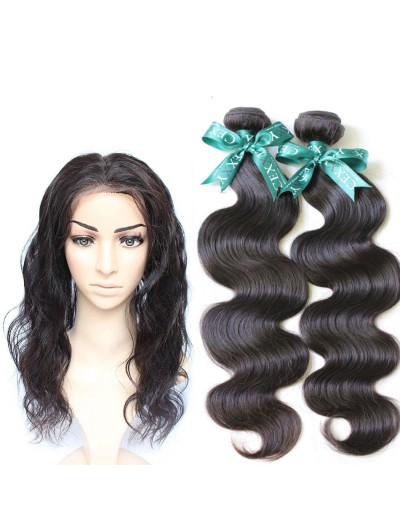 7A 360 Frontal with 3 Bundles Indian Hair Body Wave