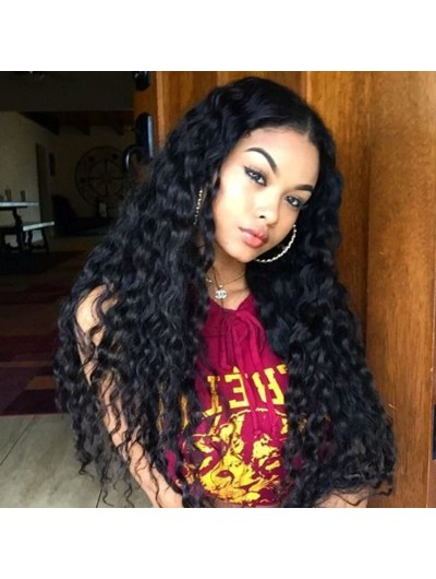 150% Density Human Hair Wigs For Black Women Deep Curly Lace Front Wigs