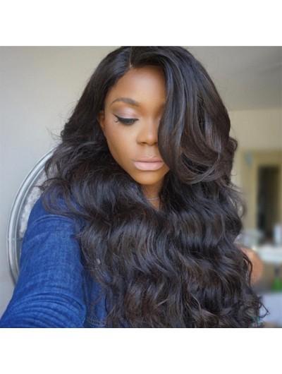 180% Density Body Wave Human Hair Black Women Full Lace Wig