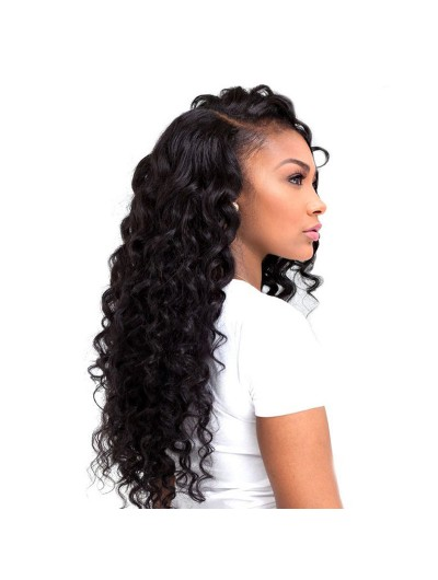Full Lace Human Hair Wig For Black Woman Loose Curly Indian Virgin Hair Wig
