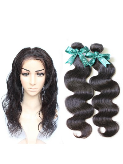 7A 360 Frontal with 3 Bundles Malaysian Hair Body Wave