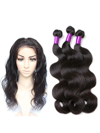 8A Premium 360 Frontal with 3 Bundles Malaysian Hair Body Wave