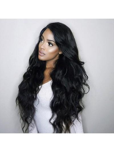 Full Lace Long Wavy Human Hair Wigs