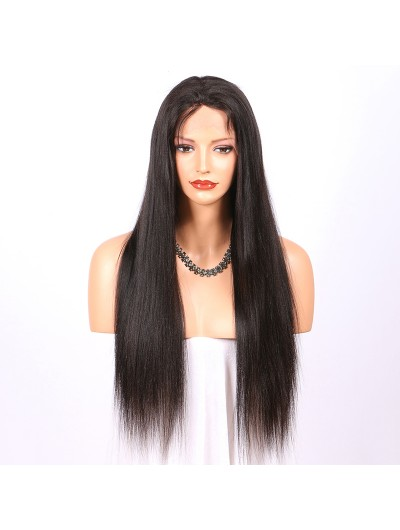 Natural Looking Straight Full Lace Human Hair Wigs For Black Women With Baby Hair