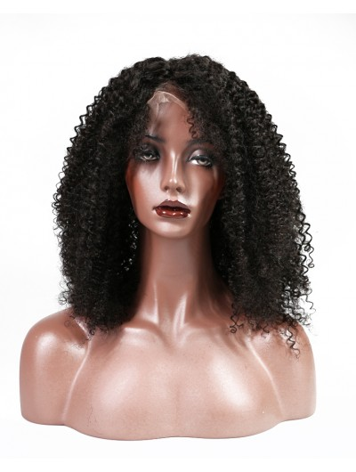 Kinky Curly Full Lace Human Hair Wigs Brazilian Remy Hair Lace Wigs For Black Women With Baby Hair