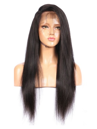 150 Density Brazilian Full Lace Human Hair Wigs With Baby Hair Non Remy Silky Straight Lace Wigs No Tangle No Shedding