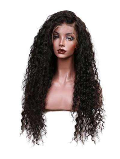 150% Density Loose Curly Lace Front Human Hair Wigs For Black Women Pre Plucked Brazilian Remy Hair Bleached Knot