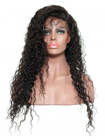 Lace Front Human Hair Wigs For Black Women Pre Plucked 250% Density Curly Brazilian Remy Hair Wig Bleached Knots