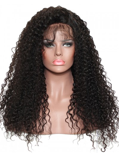 250% Density Curly Lace Front Human Hair Wigs For Black Women With Baby Hair Pre Plucked Bleached Knots Brazilian Remy