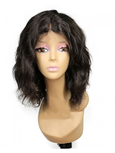 Wavy Short Bob Wigs For Black Women Remy Brazilian Lace Front Human Hair Wigs Pre Plucked With Baby Hair