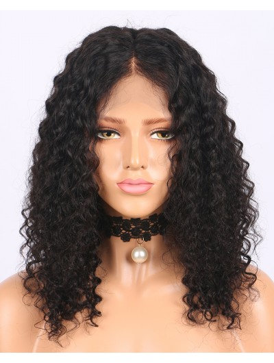 360 Lace Frontal Wigs With Baby Hair 180% Density Curly Short Human Hair Wigs Brazilian Remy Hair Pre Plucked Hairline