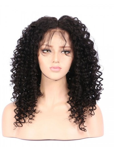 Kinky Curly 360 Lace Frontal Wig With Baby Hair Natural Hairline Non Remy Brazilian Human Hair Wigs