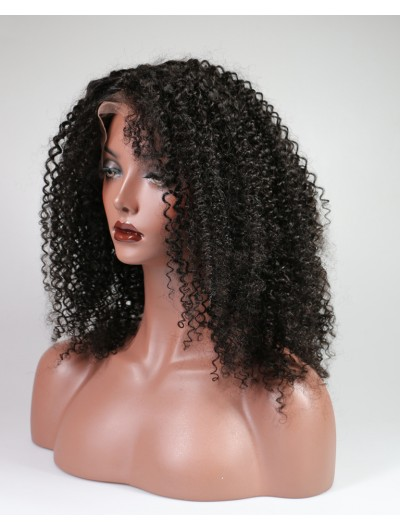 Lace Front Human Hair Wigs For Black Women 150% Afro Kinky Curly Natural Brazilian Remy Hair Lace Wigs With Baby Hair