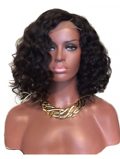 Short Lace Front Human Hair Wigs Pre Plucked Natural Hairline With Baby Hair Curly Brazilian Remy Hair Wigs For Black Women