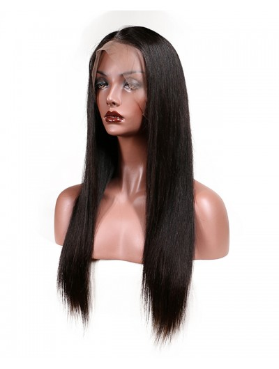 Brazilian Lace Front Human Hair Wigs For Black Women Remy Hair Straight Wig With Baby Hair Natural Hairline Full End