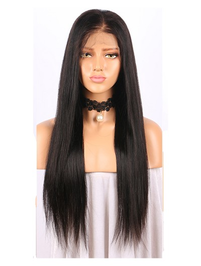"""180% Density 360 Lace Frontal Wigs Pre Plucked With Baby Hair 10""""-22"""" Natural Color Brazilian Remy Hair Straight Wigs"""
