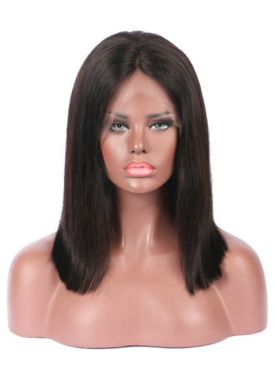 Brazilian Straight Remy Hair Short Bob Wigs 150% density Lace Front Human Hair Wigs Bob For Black Women