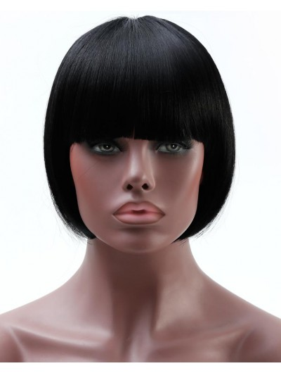 Bob Wig For African Americans Women Short Synthetic Wigs For Black Women Natural Heat Resistant Fake Hairpieces
