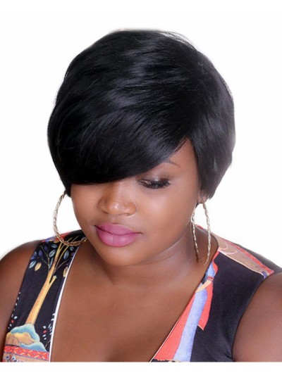 Bobo Style Short Wigs for Black Women Heat Resistant Hair Natural Synthetic Straight