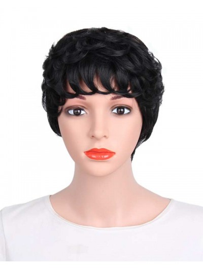 Synthetic Wigs Short Hair for Black Women African American