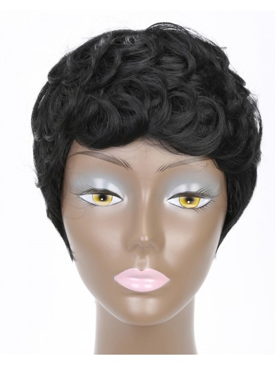 Short Pixie Cut Curly Hair Wigs for Black Women Afro Hair Synthetic Wigs High Temperature