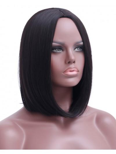 Short Bob Black Wig Women Natural Synthetic Wigs For Black Women Heat Resistant Synthetic Bob Hair Women