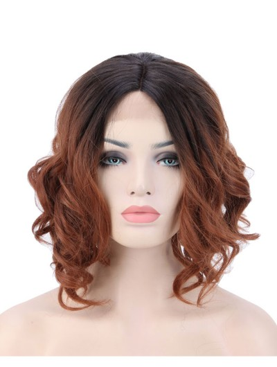 Body Wavy Bob Lace Front Wig Heat Resistant Synthetic Hair Full Wigs