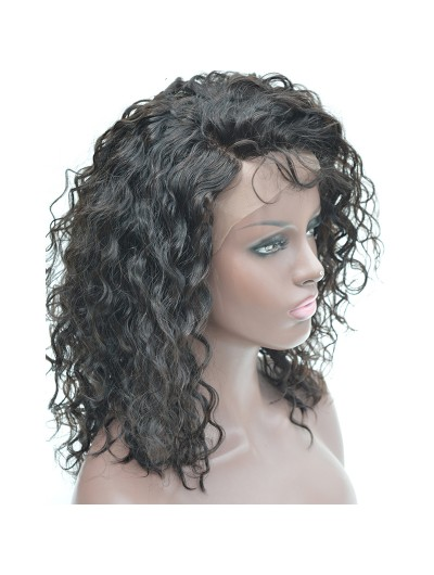 Curly For Black Women 150% Density Natural Color 100% Human Hair Lace Front  Wig 2ea8b2c46