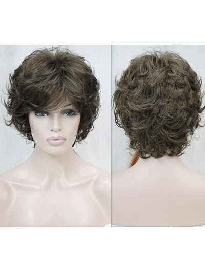 Brown Short Curly fashion Synthetic Hair Wigs