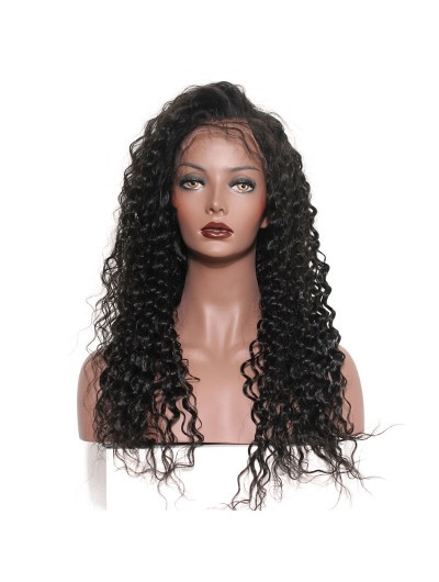 Curly Wigs Natural Color Natural Hairline Remy Hair