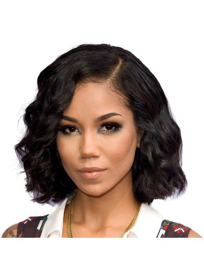 Wavy Full Lace Human Hair Bob Wigs For Black Women