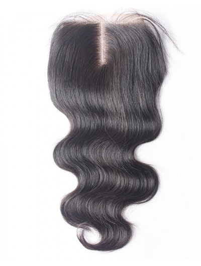 7A 4 x 4 Lace Closure Indian Hair Body Wave