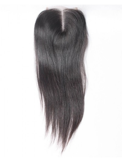 7A 4 x 4 Lace Closure Indian Hair Straight