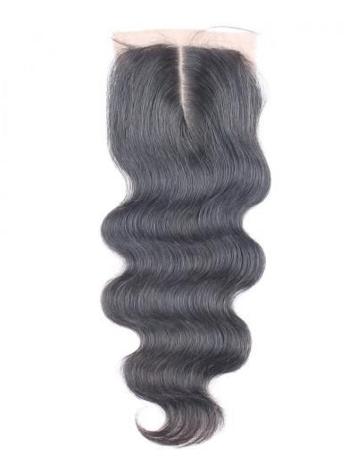8A Premium 4 x 4 Silk Base Closure Indian Hair Body Wave