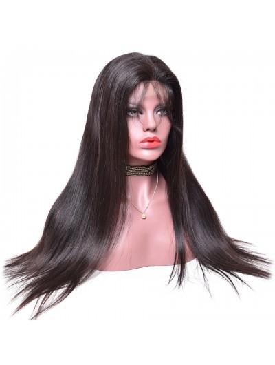 150% Density Straight Brazilian Virgin Human Hair Full Lace Wig