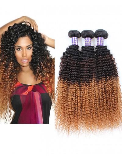 6a Ombre Blonde Brazilian Hair Brazilian Kinky Curly Virgin Hair