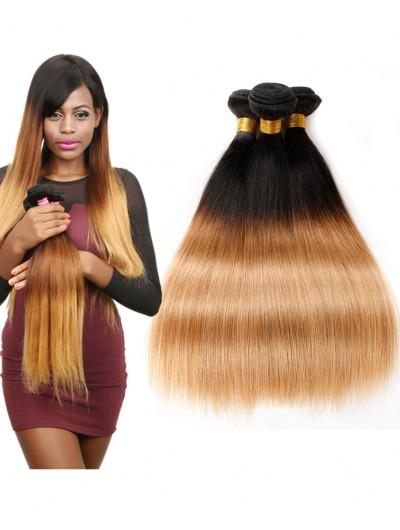 8A Ombre Brazilian Hair Body Wave 3Bundles 1B/27 Two tone color Human Hair Weaves