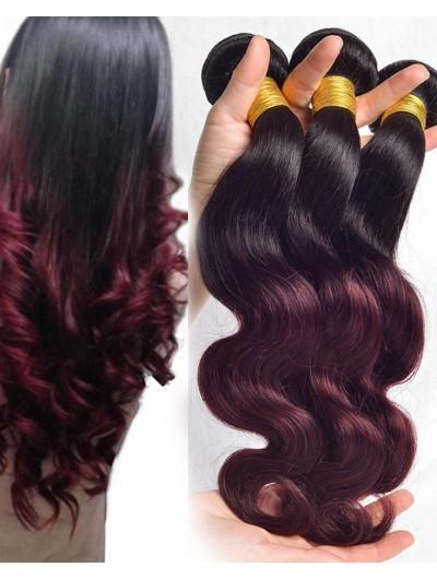Ombre Brazilian Hair Bundles 7A Brazilian Virgin Hair Body Wave Ombre Human Hair Weave Bundles