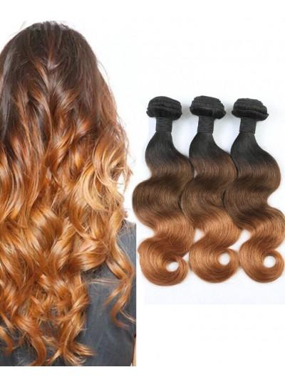 Ombre Hair Body Wave Ombre Brazilian hair 1B/4/30 Human Hair Weave