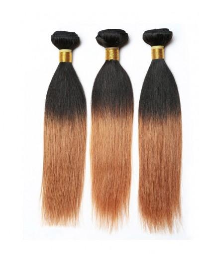 8A Ombre Brazilian Hair Straight Hair Two Tone 1B/30 Ombre Human Hair