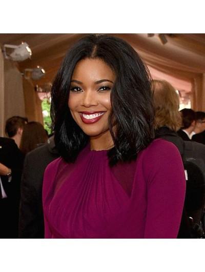 Human Hair Wigs 130% Brazilian Virgin Hair Lace Fron Bob Wigs For Black Women