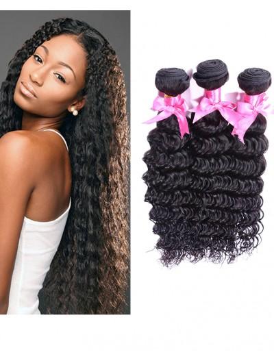 6A Hair Weave Peruvian Hair Deep Wave