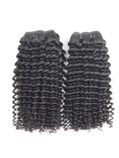 7A Hair Weave Peruvian Hair Kinky Curly