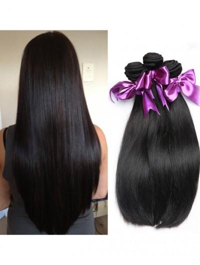 7A Hair Weave Peruvian Hair Straight