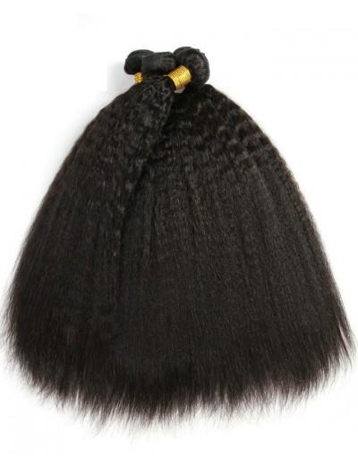 7A Hair Weave Brazilian Hair Yaki Straight