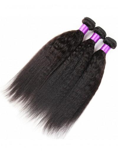 7A Hair Weave Indian Hair Yaki Straight