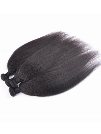 7A Hair Weave Malaysian Hair Yaki Straight